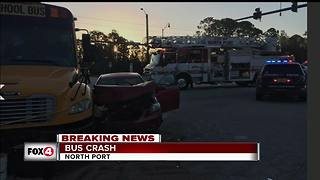 Six injured in North Port school bus crash Wednesday morning - Video