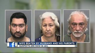Wife beaten by husband