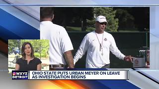Ohio State's Urban Meyer put on leave, investigation opened