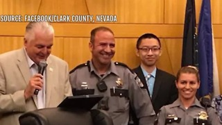 2 Nevada Highway Patrol troopers honored at Clark County Commission meeting - Video