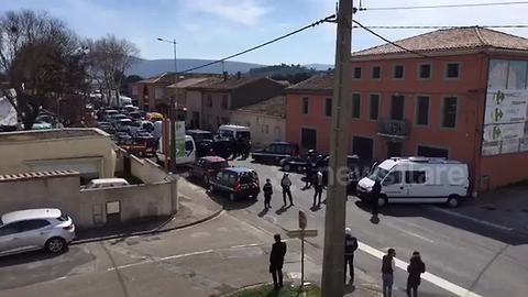 'ISIS gunman' kills one and takes hostages at French supermarket