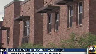 Section 8 housing wait list opens tomorrow - Video