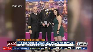 Clark County firefighters receive medals