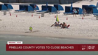 Pinellas County votes to close public beaches amid coronavirus concerns