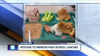 Petition to change Dunkirk high school lunches - Video