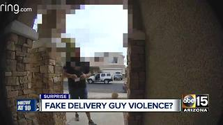 Man says he was threatened by 'fake' delivery driver - Video