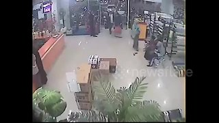 Recently emerged CCTV footage shows moment 7.5-magnitude earthquake hits Indonesia island - Video