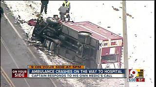 Pickup truck crashes into Lebanon ambulance carrying patient - Video