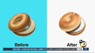 Apple pressured to change bagel emoji?