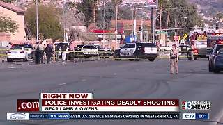 Deadly shooting near Lamb, Owens under investigation - Video