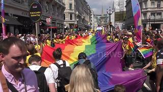 Thousands descend on London for annual LGBT Pride parade - Video