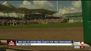 Red Sox offering complimentary tickets to first responders - Video