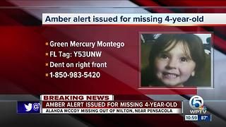 Amber Alert issued for missing 4-year-old girl