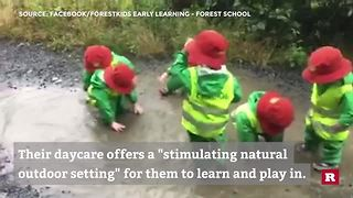 Puddles Bring Joy To Small Explorers - Video