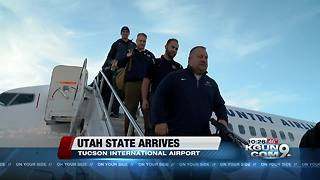 Utah State arrives ahead of the Nova Home Loans Arizona Bowl - Video
