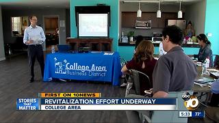 Revitalization effort underway for College Area - Video
