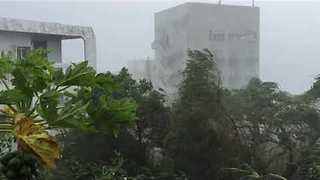 Miyako Island Hammered by Typhoon Talim - Video