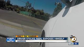 Driver stalks teen, exposes himself - Video