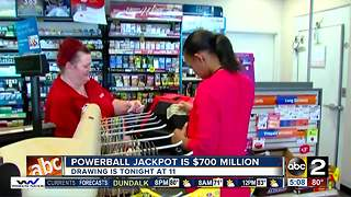 Powerball Jackpot hits $700 million - Video