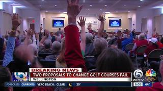 Wellington votes down proposal to change use of golf courses - Video