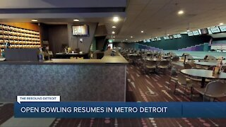 Open bowling resumes in metro Detroit