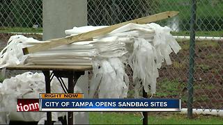 Sandbag stations open in Tampa - Video