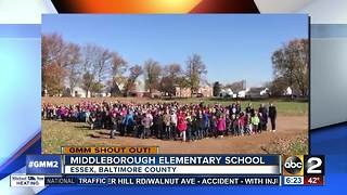 Good morning from the students at Middleborough Elementary - Video
