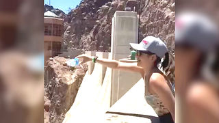 What Happens When You Pour Water Over the Hoover Dam - Video