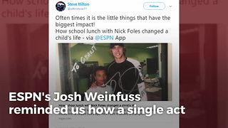 Nick Foles Changed A 6th-Grader's Life 7 Years Ago Just By Eating Lunch With Him - Video