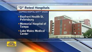 Report: Several Tampa Bay area hospitals receive 'D' grade for patient safety - Video