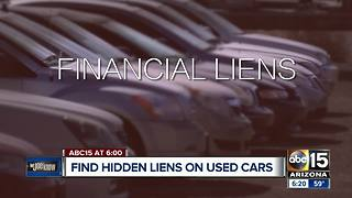 "Protect yourself: How to check if their is a ""hidden"" lien against a car"