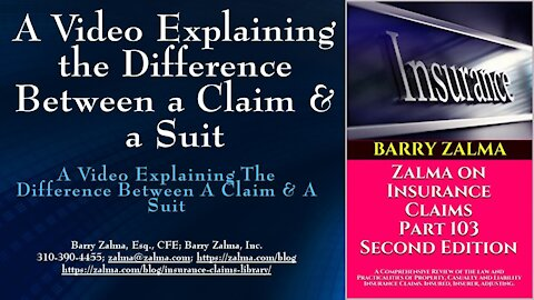 A Video Explaining the Difference Between a Claim & a Suit