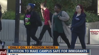 Hundreds sign petition to make UNLV safe space for undocumented immigrants - Video