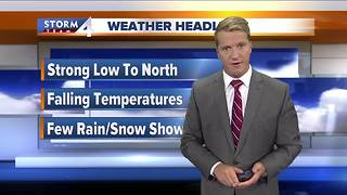 Cooler temperatures heading into weekend - Video