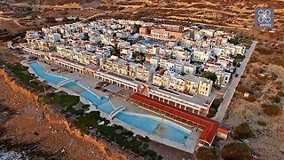 Creepy drone footage captures abandoned settlement in Greece - Video