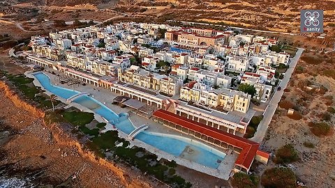 Creepy drone footage captures abandoned settlement in Greece