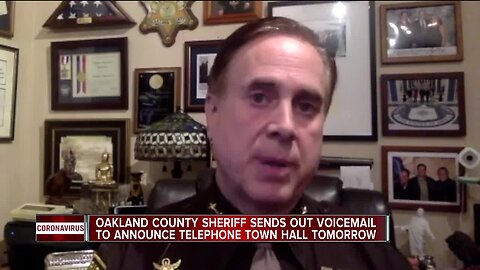 Oakland County Sheriff sends out voicemail to announce telephone town hall Thursday