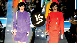 Kaia Gerber and Bella Hadid Face Off With Same Jackie O Runway Look