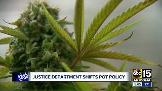 Justice Department tightening pot policy - Video