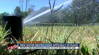 New water restrictions officially in place - Video