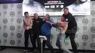 McDonagh and Singleton almost come to blows at weigh-in - Video
