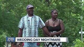 Detroit couple has wedding day debacle when caterer goes missing with their money