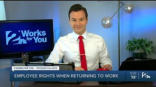 Employee rights when returning to work