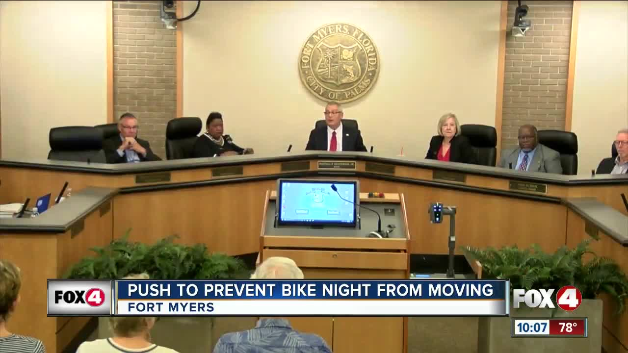 Push to prevent bike night from moving