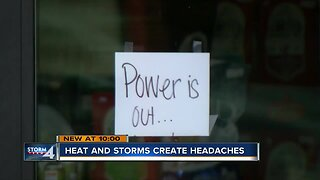 Storms and heat cause problems for businesses