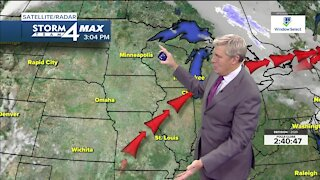 Warmer weather continues Tuesday night, into Wednesday