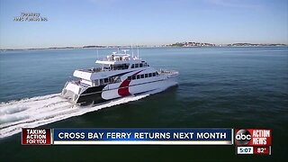 The Cross-Bay Ferry linking downtown Tampa and St. Petersburg is making its return