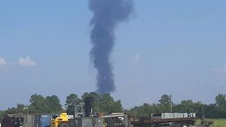 Explosion Sparks Fire at Harvey-Struck Chemical Plant in Crosby - Video