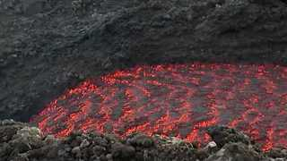 Lava Flow Seen on Slopes of Mount Etna - Video
