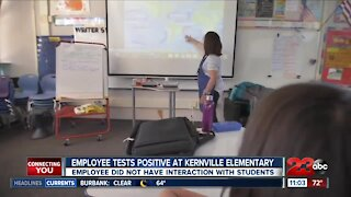 staff member at Kernville Elementary tests positive for covid